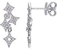 Diamond Dangle Earrings, 14K White Gold, by Affinity - J376507