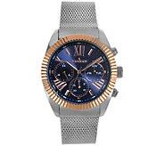 Peugeot Mens Stainless Multifunction Mesh Bracelet Watch - J383907