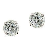 Diamonique 1.00 ct tw 100-Facet Stud Earrings,1 4K Gold - J110208