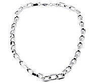Sterling 24 Solid Oval Link Necklace, 70.0 g - J112808
