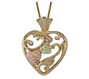 Black Hills Open Heart Pendant, 10K/12K Gold - J113708
