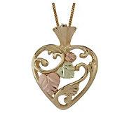 Black Hills Open Heart Pendant, 10K/12K Gold - J113708