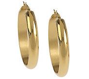Stainless Steel Polished Oval Hoop Earrings - J159608