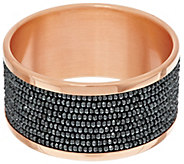 Bronze Bold Multi-Row Hematite Bead Bangle by Bronzo Italia - J270008