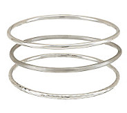 Dominique Dinouart Avg. Sterling Set of 3 Bangles, 20.0g - J280308