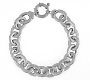Vicenza Silver Sterling 8 Satin Finish Rolo Link Bracelet, 20.5g - J284308