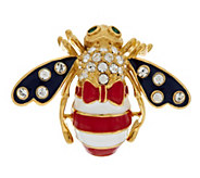 Joan Rivers Patriotic God Bless America Bee Pin - J288908