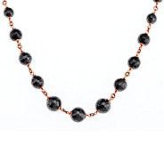 Bronze 24 250.00 ct tw Hematite Bead Necklace by Bronzo Italia - J290108