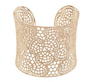 As Is Sterling Large Openwork Lace Design Cuff, 30.0g - J295708