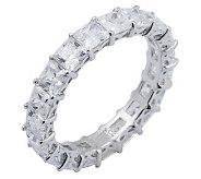 Diamonique 4.90 cttw Princess Cut Eternity Ring, Platinum Cla - J297708