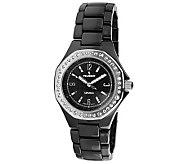 Peugeot Womens Swiss Ceramic Swarovski CrystalAccent Watch - J308608
