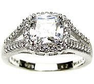 Judith Ripka Sterling 2.00 cttw Diamonique Ring - J309008