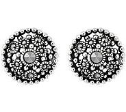 Suspicion Sterling Marcasite Stud Earrings - J309808