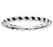 Simply Stacks Sterling Oxidized Twisted Ring - J314808