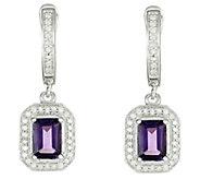 Sterling Gemstone & 1/3 cttw Diamond Earrings - J315708