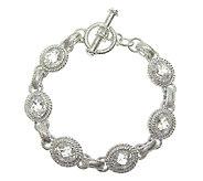 Judith Ripka 8 Sterling 1/2 cttw Diamonique Link Bracelet - J316208