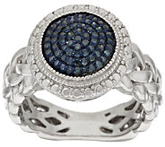 Round Pave Color Diamond Ring, Sterling, 1/4 cttw, by Affinity - J317208