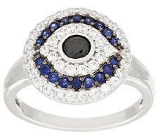 Epiphany Diamonique Evil Eye Ring