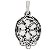 Carolyn Pollack Sterling Silver White Agate Cluster Enhancer - J320108