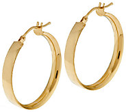 As Is VicenzaGold 1 Polished Round Hoop Earrings, 14K Gold - J320608