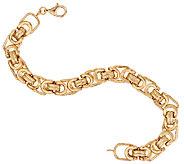 14K Gold 7-1/4 Modern Status Byzantine Bracelet, 6.3g - J321608