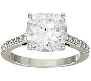 Diamonique 100-Facet Ring 5.20 cttw, Platinum Clad - J322908