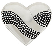 As Is Stainless Steel Textured & Polished Heart Slide - J326708