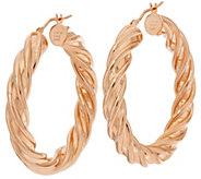 As Is Bronze 1-1/2 Polished Twisted Hoop Earrings by Bronzo Italia - J327208