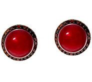 Honora Cultured Pearl 9.0mm & 1/3 cttw Diamond Stud Earrings - J330608