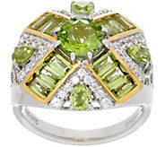 Graziela Gems Baguette & Round Gemstone Sterling Silver Ring, 2.80 cttw - J330708