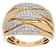 Round Diamond Multi-Row Bold Ring 14K, 3/4 cttw, by Affinity - J331108