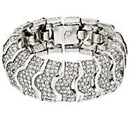 As Is Joan Rivers Pave Crystal Heirloom Bracelet - J331708