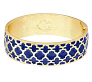 C. Wonder Trellis Enamel Oval Hinged Bangle - J333708