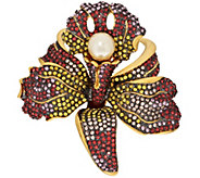 As Is Joan Rivers Crystal Pave Orchid Brooch - J334108