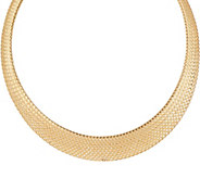 Dieci 18 Braided Mesh Necklace 10K Gold, 15.5g - J334708