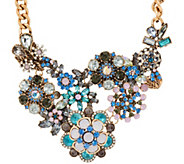 As Is Joan Rivers Opalescent Floral 17 Necklace w/ext - J346108