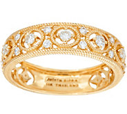 Judith Ripka 14K Gold 1/4 cttw Diamond Band Ring - J347508
