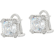 Judith Ripka Sterling 118 Facet Cushion Diamonique Earrings - J349108