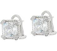 Judith Ripka Sterling 118 Facet Cushion Diamonique Earrings - J349108