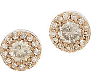 Champagne Diamond Stud Earrings, 1/2 cttw, Sterling by Affinity - J352708