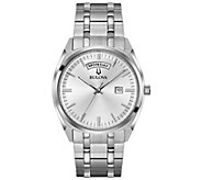 Bulova Mens Classic Stainless Dress Watch - J378508