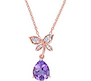 Laura Ashley Sterling 2.10 ct Gemstone Necklace - J379508
