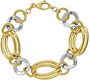 Italian Gold 8 Two-Tone Multi Link Bracelet 14K, 11.5g - J381608
