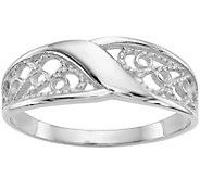 14K Gold Filigree Band Ring - J382108