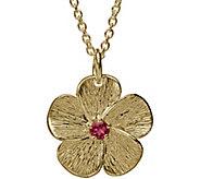 Adi Paz 14K Gold Pink Tourmaline Flower Pendantw/ Chain - J382508