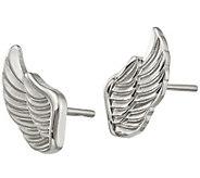 Steel by Design Angel Wing Stud Earrings - J383808
