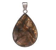 Lee Sands Pear Shape Labradorite Sterling Pendant - J272709