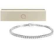 Diamonique 100-Facet Round Tennis Bracelet Sterling or 14K Gold Clad - J273809