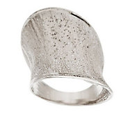 Vicenza Silver Sterling Satin Diamond Finish Elongated Ring - J277709