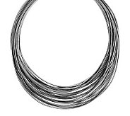 Vicenza Silver Sterling 20 Multi-strand Graduated Omega Necklace - J285109